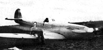 Spitfire prototype crash