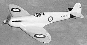 Spitfire K5054 in flight